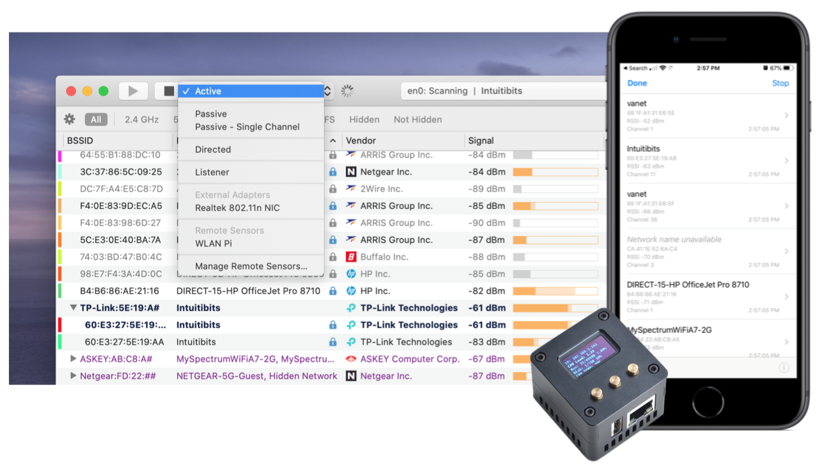 WiFi Explorer Pro integrates with multiple devices
